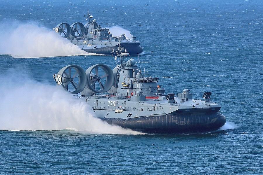 Zubr-class hovercraft tank landing ships