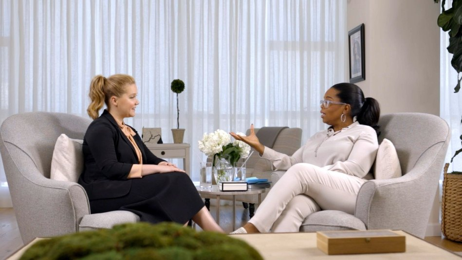 Amy Schumer and Oprah Winfrey