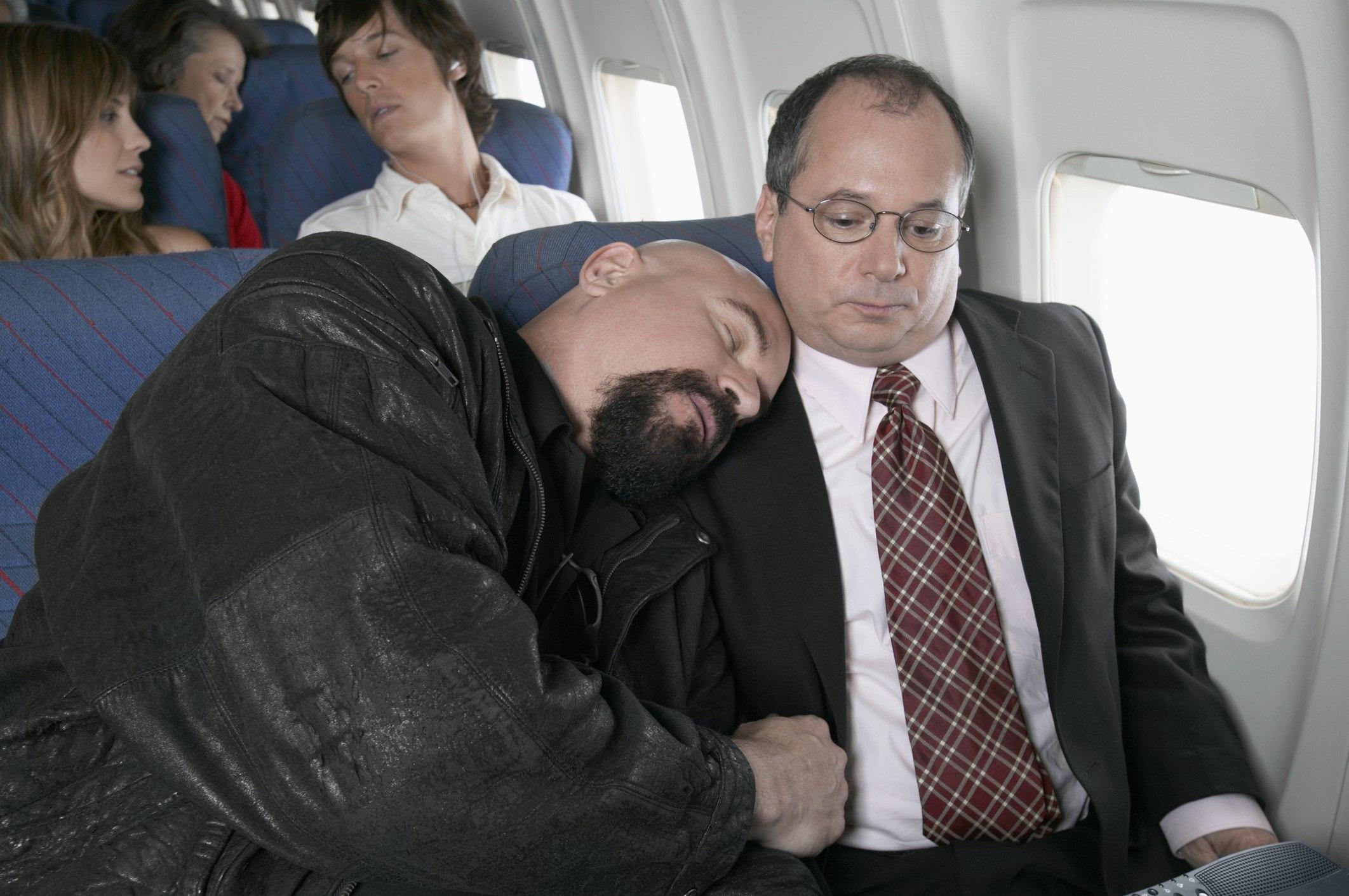 Annoyed pessanger on plane