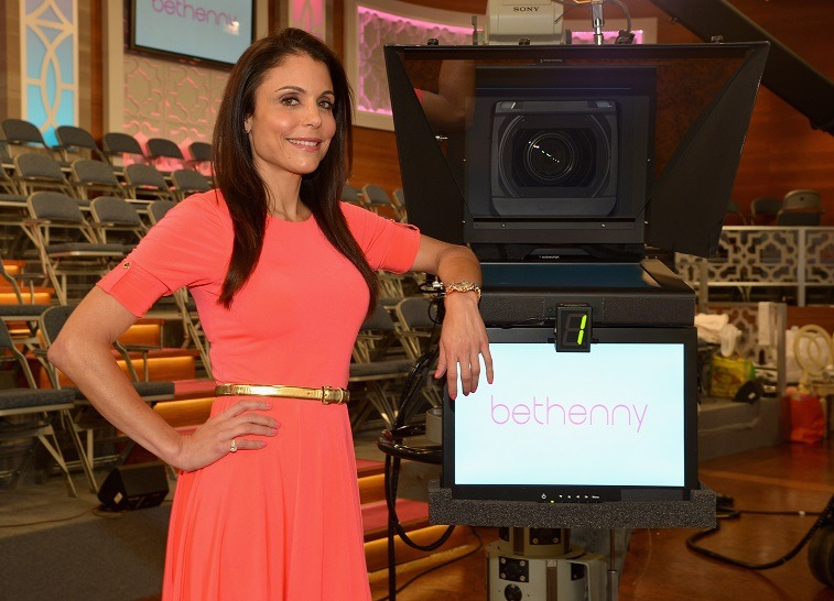 """Bethenny Frankel on set of her new talk show """"bethenny"""" at CBS Broadcast Center on August 23, 2013 in New York City."""