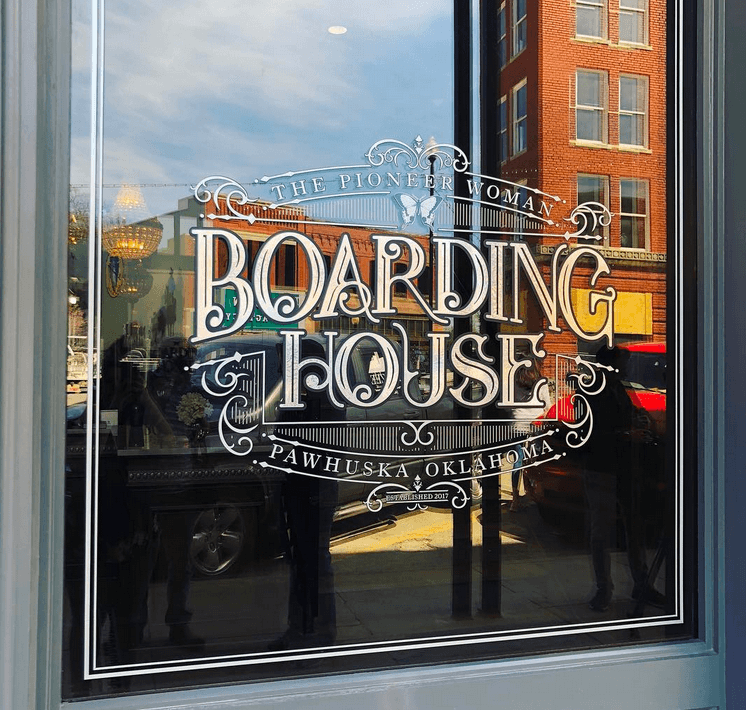 Boarding House sign