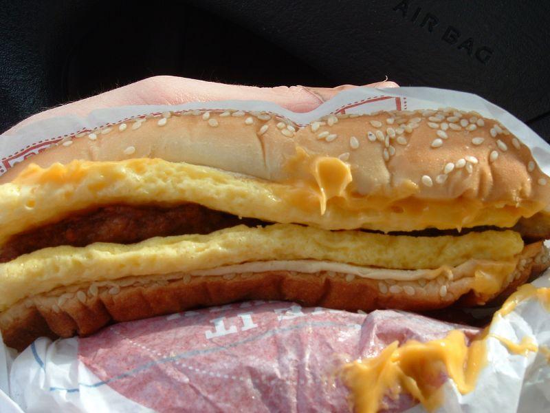 burger king omelet sandwich