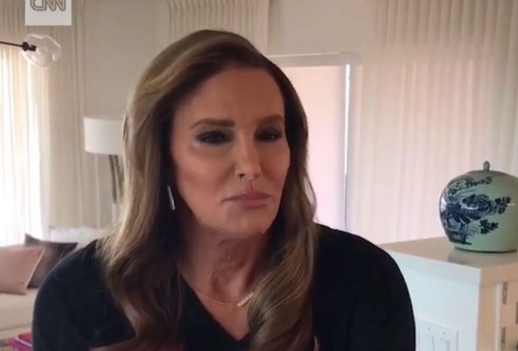 Caitlyn Jenner speaking to CNN