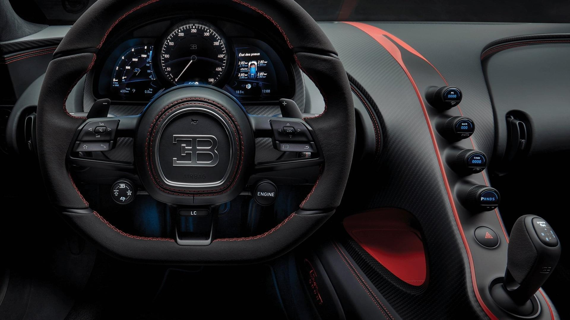 chiron steering wheel