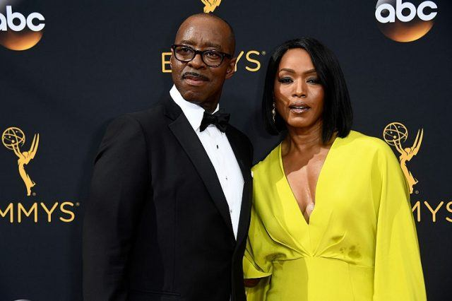 Actors Courtney B. Vance (L) and Angela Bassett attend the 68th Annual Primetime Emmy Awards at Microsoft Theater.
