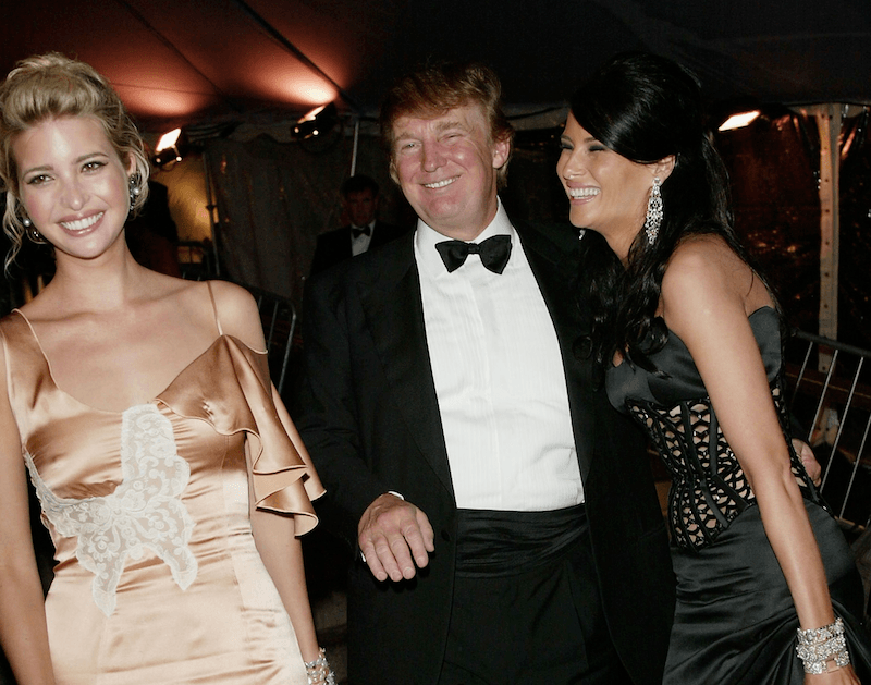 Melania and Donald Smile with Ivanka