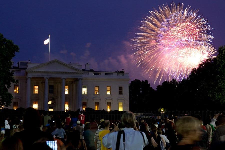Fireworks at white house