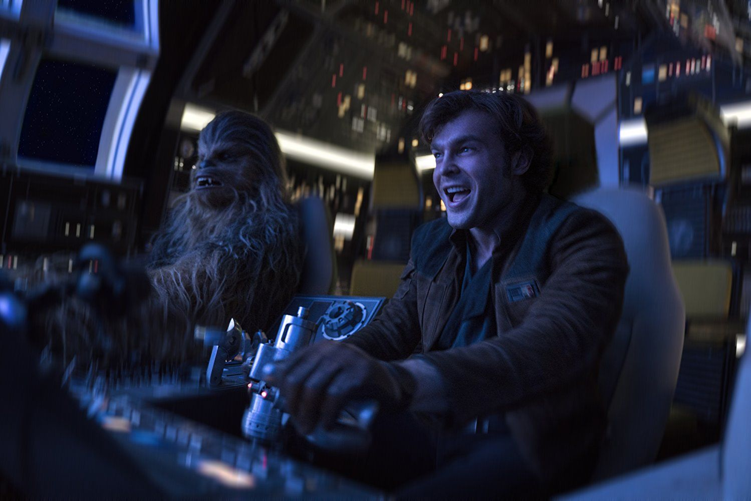 Han Solo and Chewie