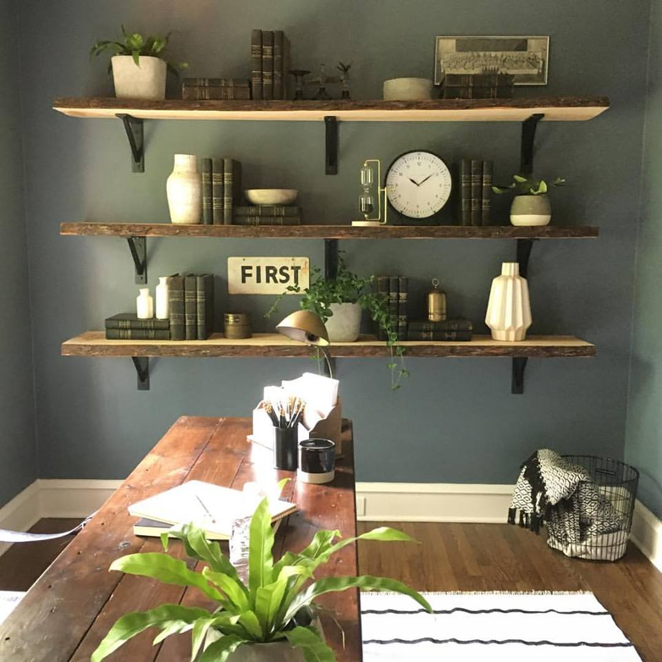 shelves with old books