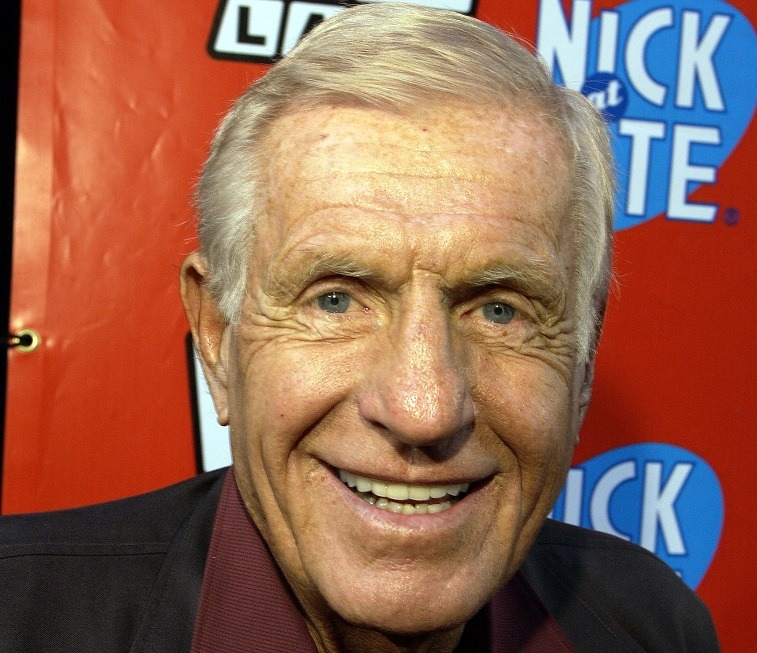 "Jerry Van Dyke ,""Coach"", at the TV Land and Nick at Nite Upfront in ""The Bat Cave"" on Broadway in New York City on April 24, 2002"