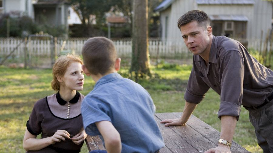Jessica Chastain and Brad Pitt in The Tree of Life