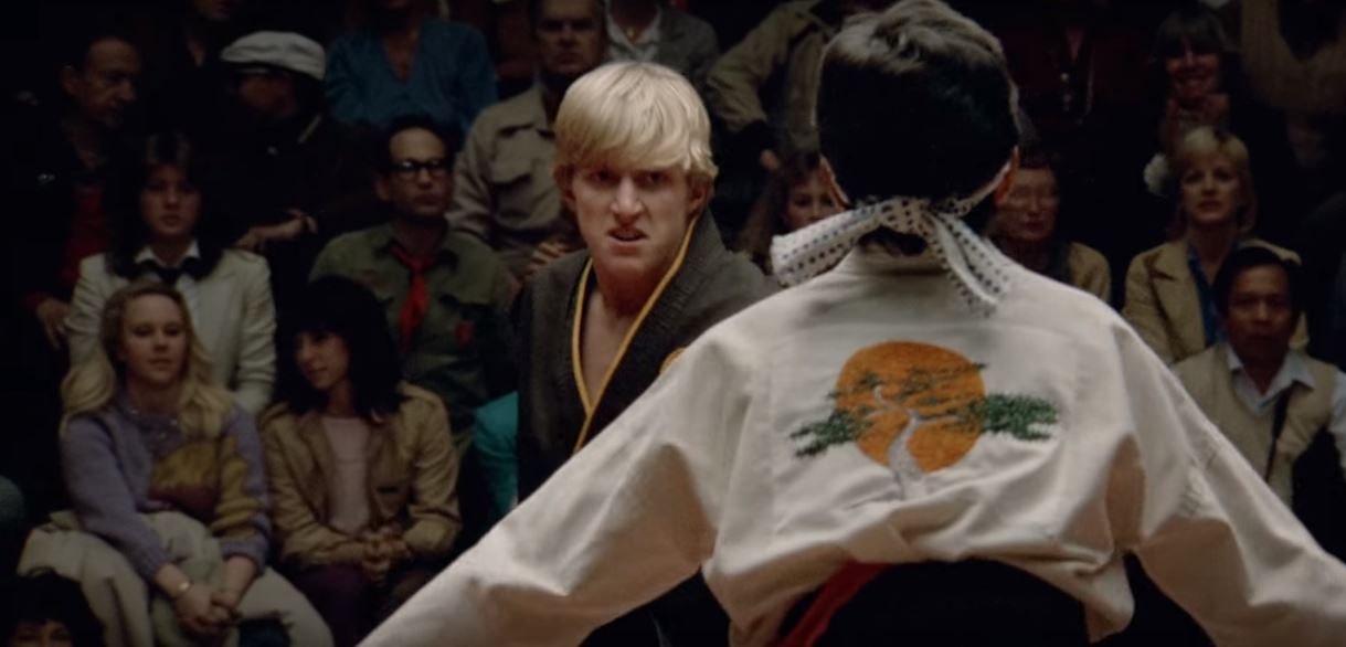 William Zabka in the remastered final fight of The Karate Kid