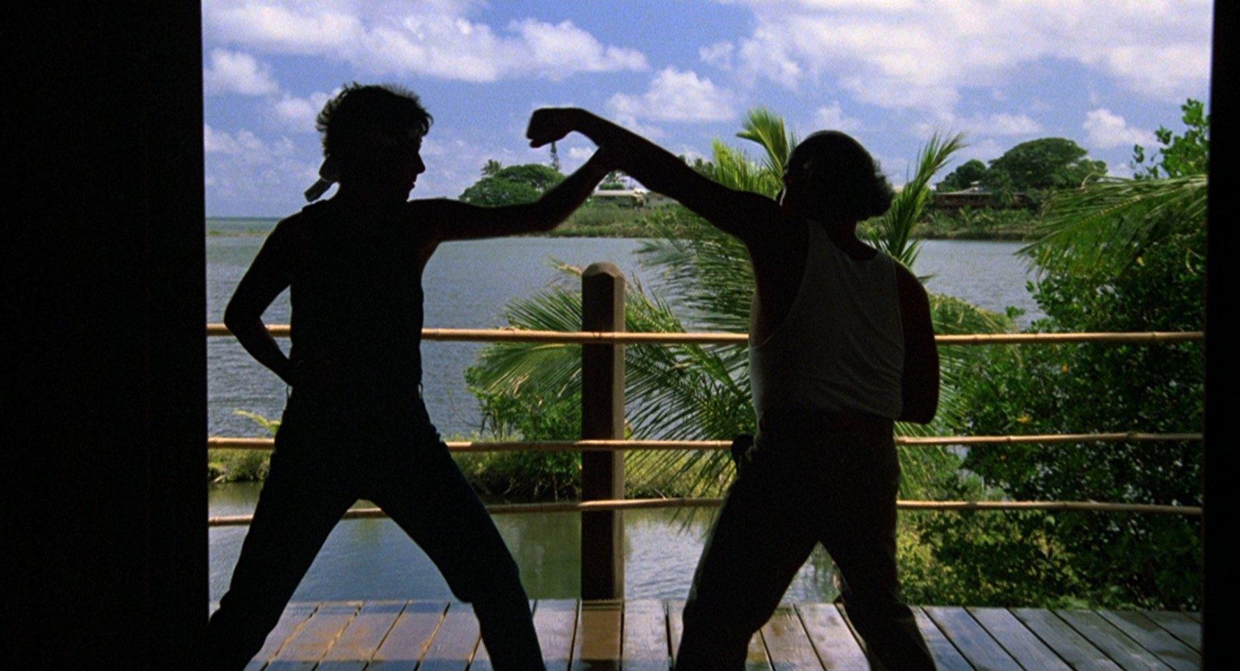 Sparring in The Karate Kid Part II