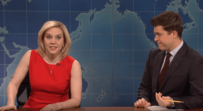 Kate McKinnon and Colin Jost
