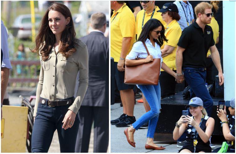 Kate Middleton and Meghan Markle composite image