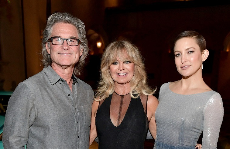 Co-host Kurt Russell, founder of The Hawn Foundation and Co-Host Goldie Hawn, and Kate Hudson attend Goldie's Love In For Kids at Ron Burkle's Green Acres Estate on November 3, 2017 in Beverly Hills, California.