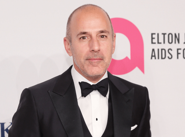 Matt Lauer on a red carpet.