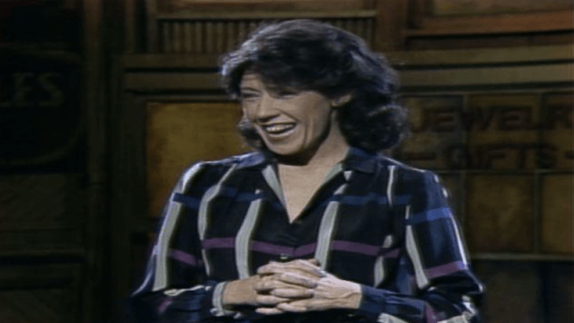 Lily Tomlin performing on 'Saturday Night Live'.