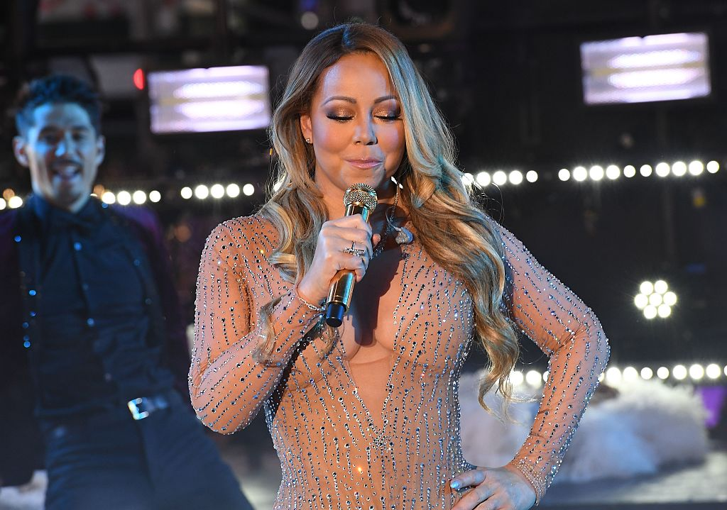 Mariah Carey performs