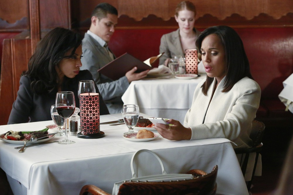 Maya Lewis and Olivia Pope on Scandal
