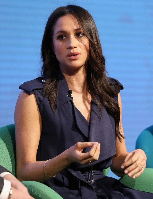 Meghan Markle attends the first annual Royal Foundation Forum held at Aviva.
