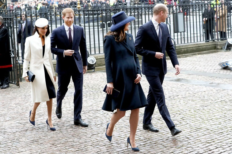 Meghan Markle, Prince Harry, Catherine, Duchess of Cambridge and Prince William, Duke of Cambridge attend the 2018 Commonwealth Day service at Westminster Abbey on March 12, 2018 in London, England.