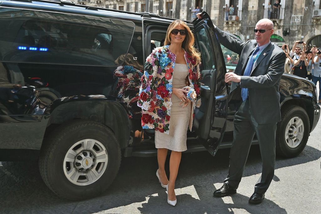 Melania Trump in Italy