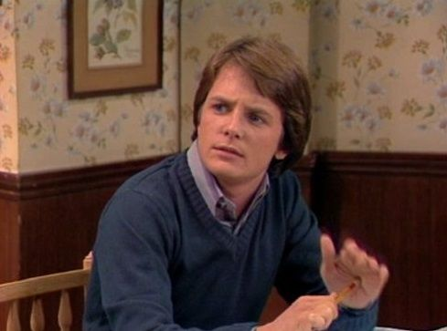 Michael J. Fox as Alex P. Keaton on Family Ties