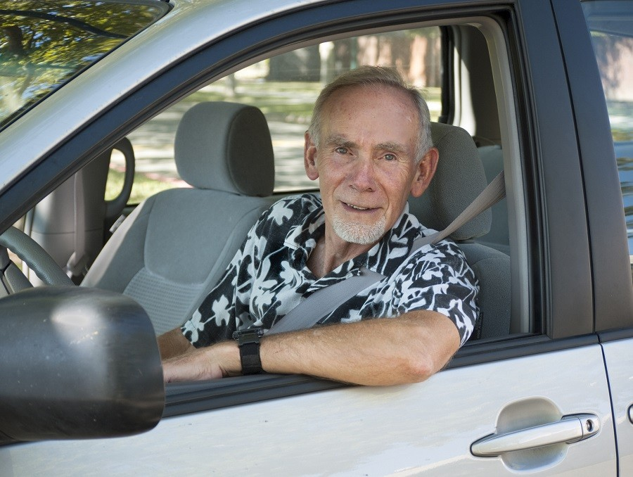 older man driving