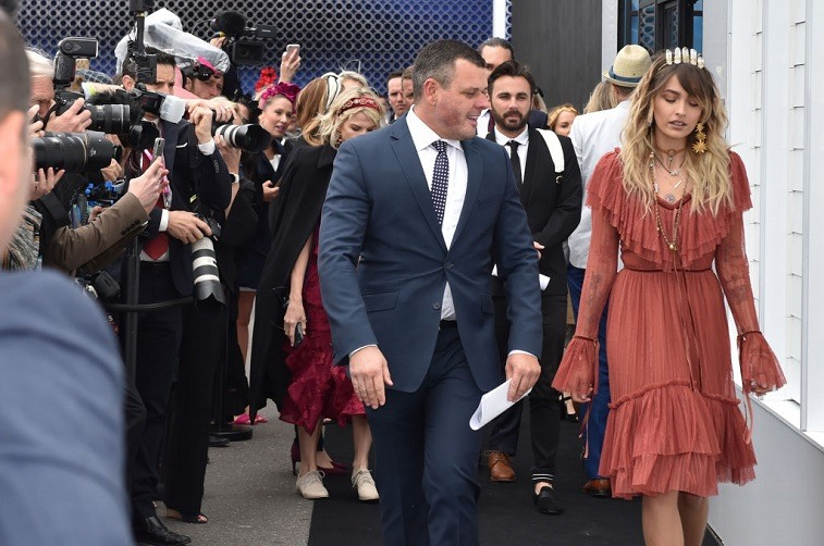 Paris Jackson, daughter of US music legend Michael Jackson, arrives for a photo opportunity for the press ahead of Australia's premier horse race, the 157th Melbourne Cup at Flemington Racecourse in Melbourne on November 7, 2017.