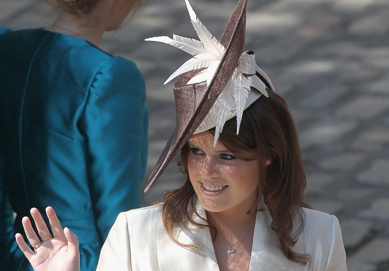 Princess Eugenie arrives at Canongate Kirk on the afternoon of the wedding of Mike Tindall and Zara Philips on July 30, 2011 in Edinburgh, Scotland.