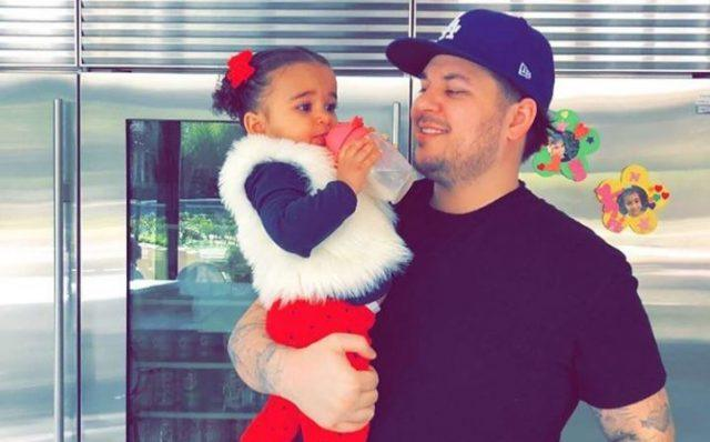Rob Kardashian and her daughter, Dream
