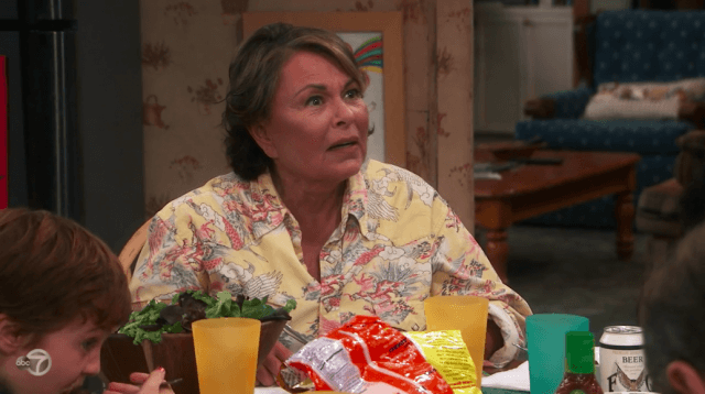 Roseanne argues with Jackie.