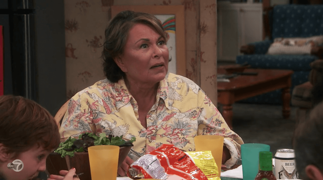 Roseanne argues with Jackie