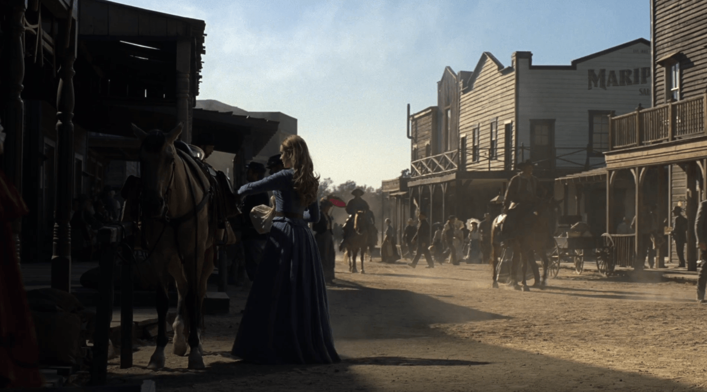 The outside of the saloon in Westworld