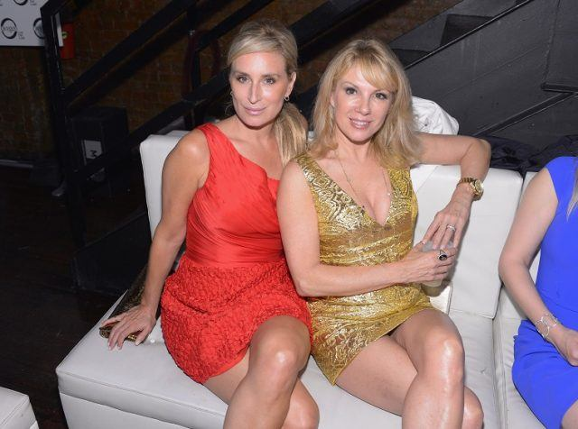TV Personalities Sonja Morgan and Ramona Singer attend the OK Magazine Sexy Singles Party at Amnesia on May 21, 2012 in New York City.
