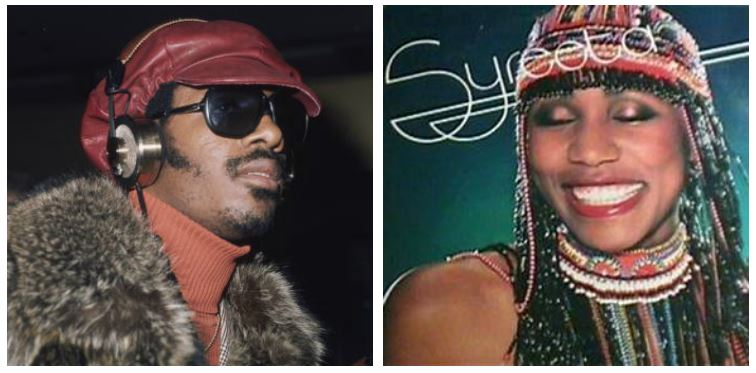 Stevie Wonder and Syreeta Wright composite image