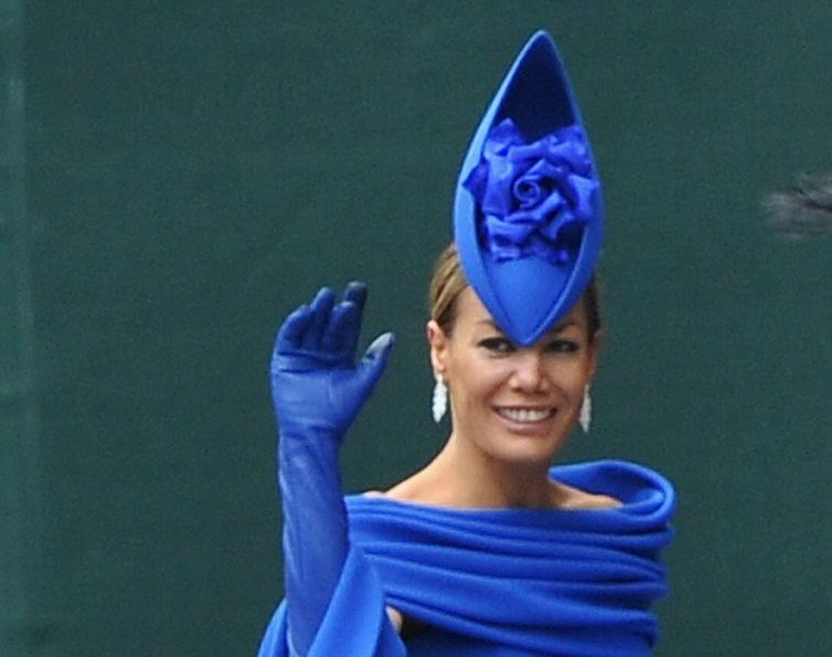 Tara Palmer-Tomkinson arrives to attend the Royal Wedding of Prince William to Catherine Middleton at Westminster Abbey on April 29, 2011 in London, England.
