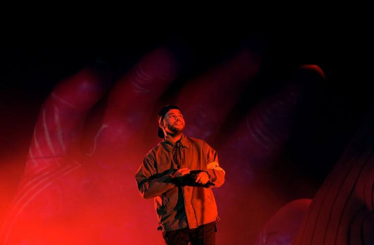 The Weeknd performs onstage during the 2018 Coachella Valley Music And Arts Festival at the Empire Polo Field on April 13, 2018 in Indio, California.