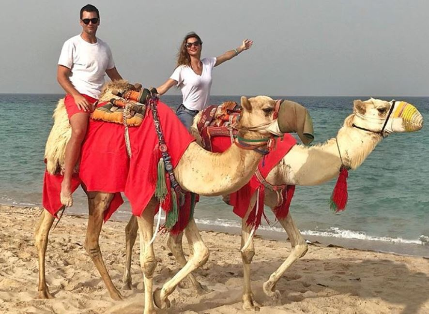 Tom Brady and Gisele Bundchen ride camels