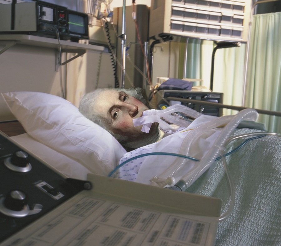 Patient lying on bed