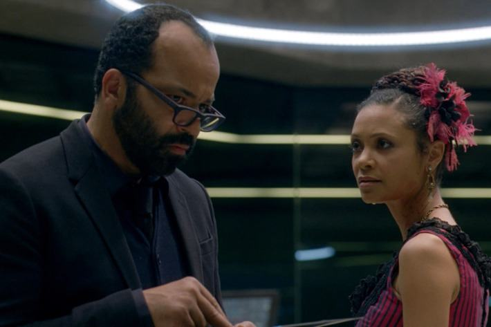 Bernard and Maeve on Westworld