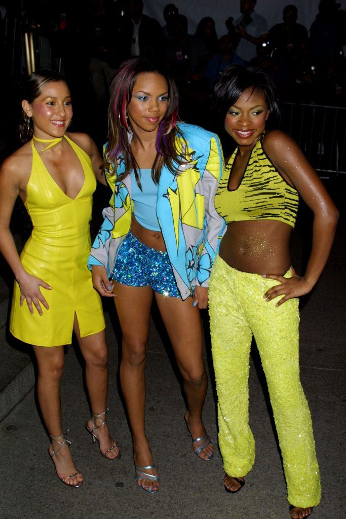 Singing group 3LW (Three Little Women) arrive at the Costume Institute Gala