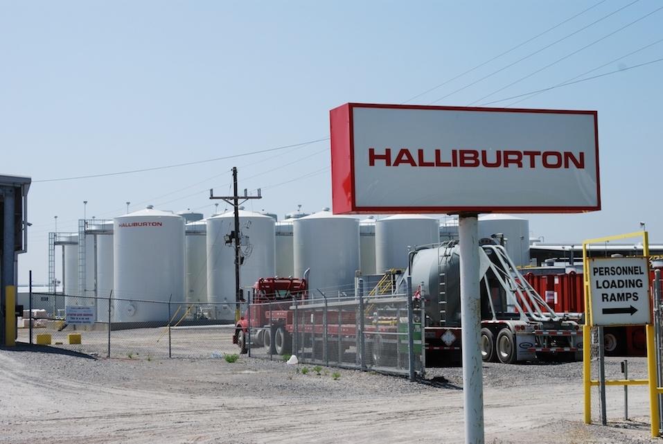 A Halliburton facility in Port Fourchon, Louisiana