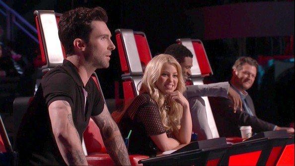 Shakira and Adam Levine on The Voice