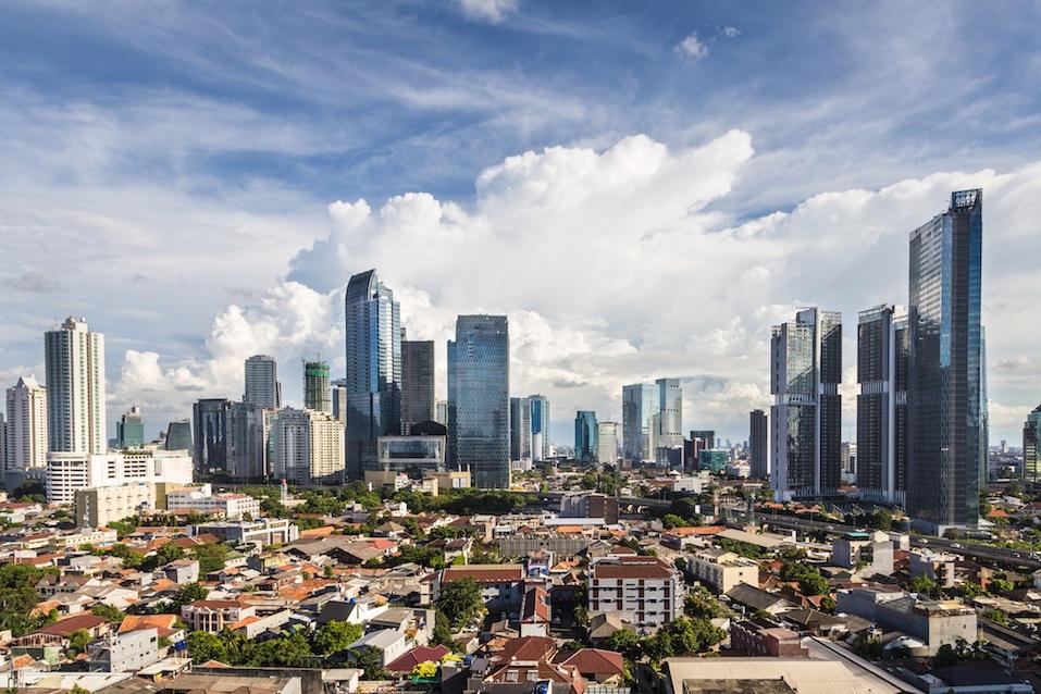 Jakarta cityscape in Indonesia capital city