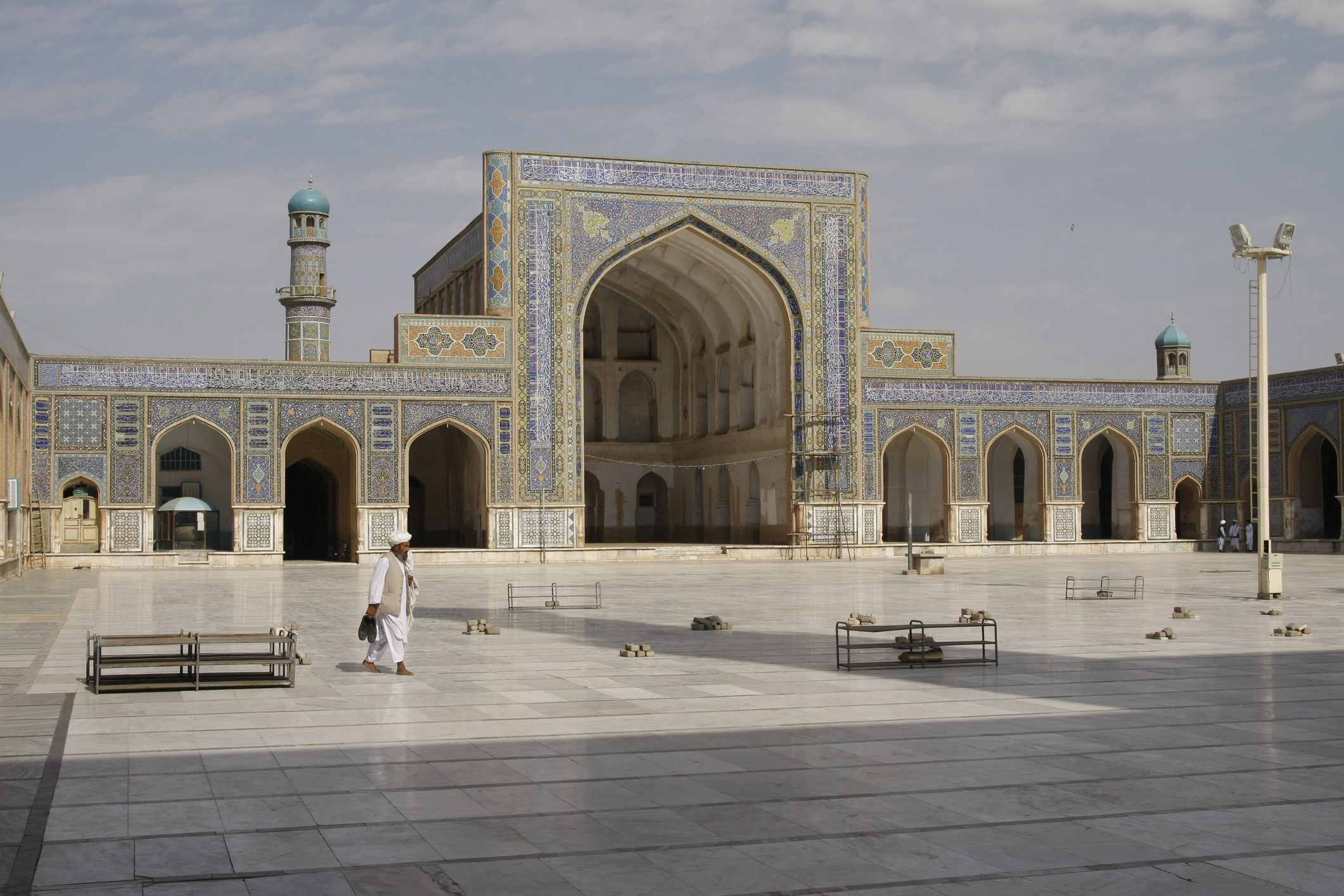 Scene from the Friday Mosque of Herat Afghanistan