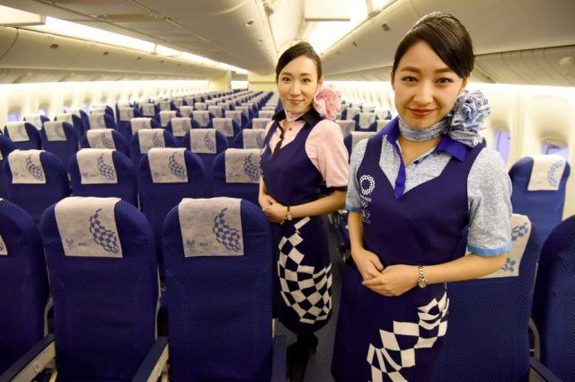 Flight attendants for Japanese airline All Nippon Airways