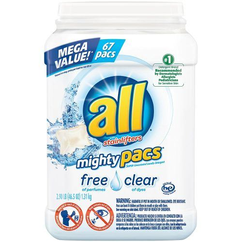 all Mighty Pacs Laundry Detergent, Free Clear for Sensitive Skin
