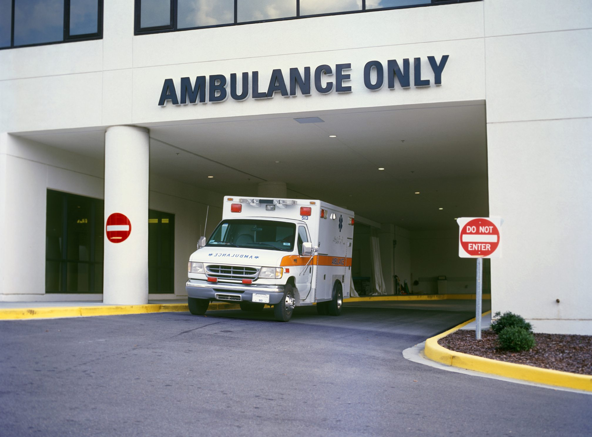 Ambulance at Emergency Room entrance